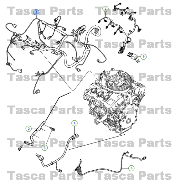 brand new oem mopar engine wiring harness 2013 dodge