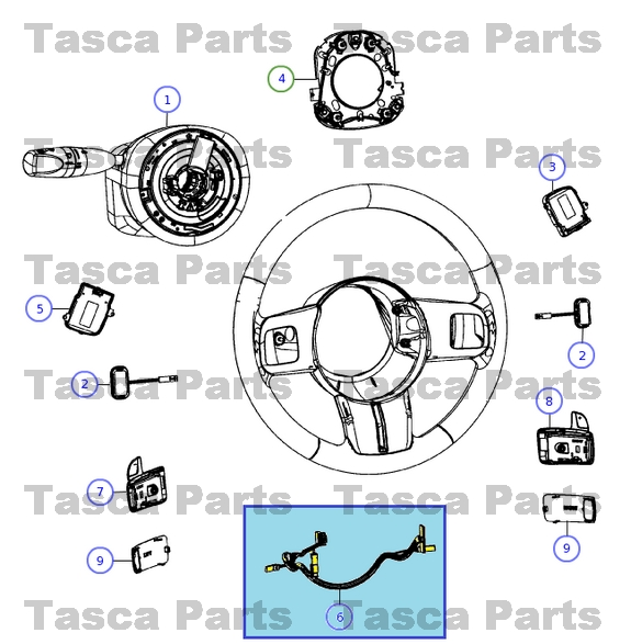 0 new oem mopar steering wheel wiring harness 2012 2014 chrysler 300  at gsmx.co