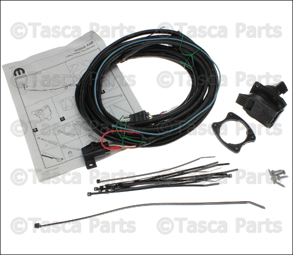 New oem mopar trailer tow wiring harness kit dodge