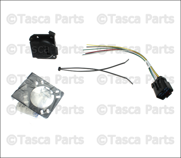 new oem mopar 7 way connector trailer tow wiring harness 14 dodge chrysler jeep