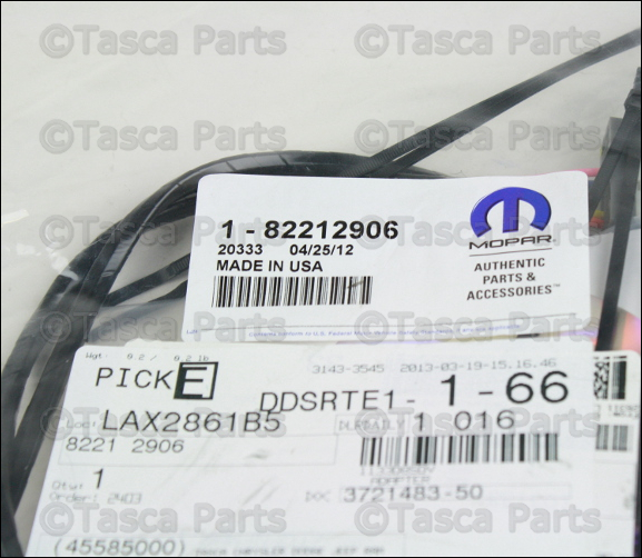 oem uconnect bluetooth wiring harness 2011 2013 dodge. Black Bedroom Furniture Sets. Home Design Ideas