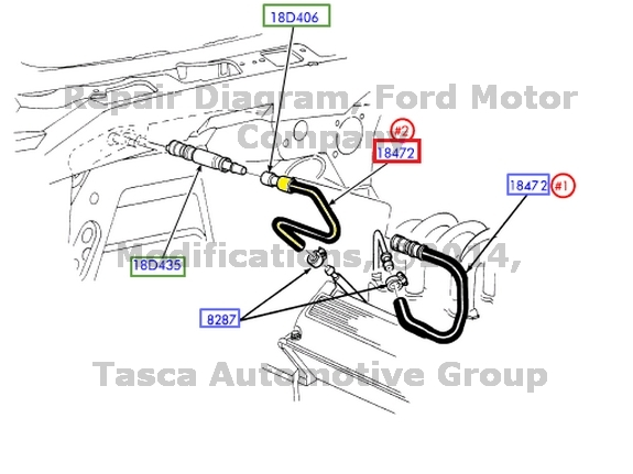 marca nuevo oem calentador de agua manguera 4 6l 5 4l 2001 2003 ford rh ebay com 1995 4.6L Engine Ground Connection HR Diagram