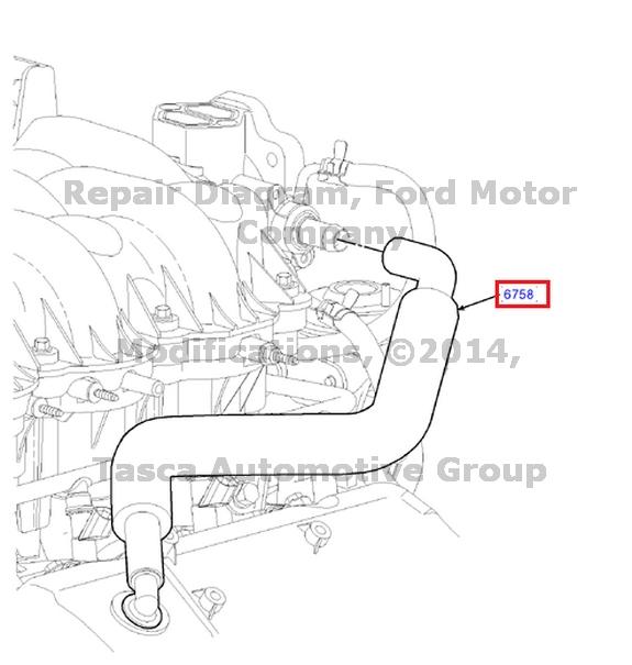 new oem crankcase ventilation tube ford e150 e250 f150 4 2l engine  1l3z