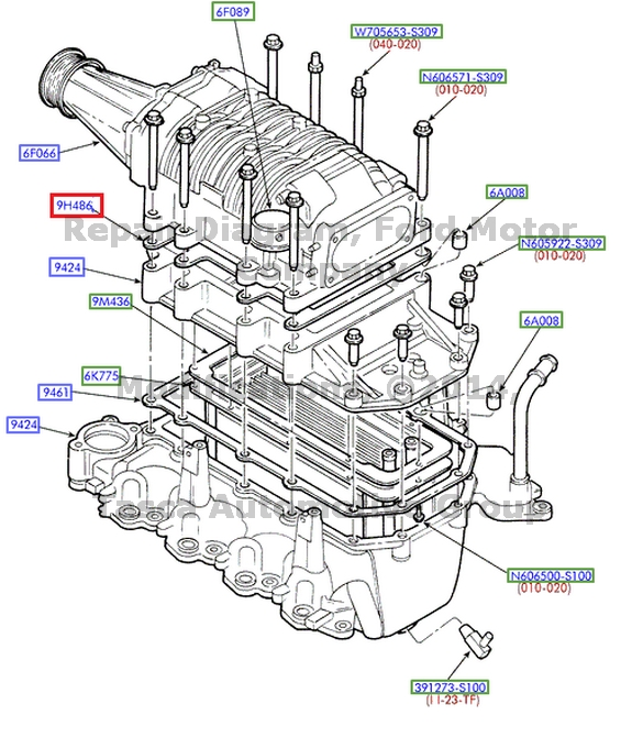 Brand New Oem Intake Manifold Gasket 2001 2004 Ford F150 Svt