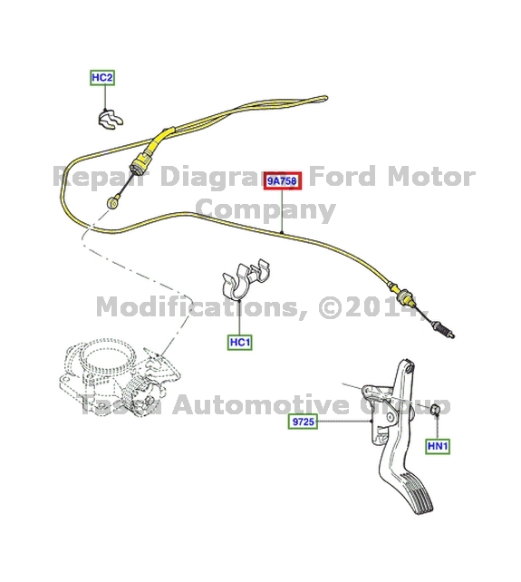 BRAND NEW OEM ACCELERATOR PEDAL TO THROTTLE BODY CONTROL