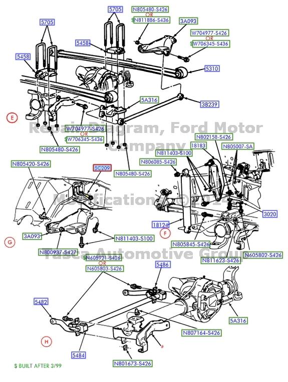 Ford Excursion Front Suspension Diagram