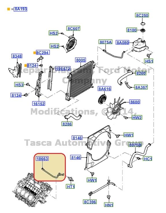 new oem heater outlet tube 2002 05 ford explorer mercury. Black Bedroom Furniture Sets. Home Design Ideas