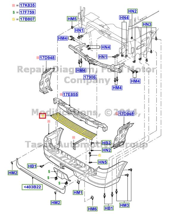 2013 Lincoln Navigator L Interior: NEW OEM REAR BUMPER PAD BLACK 2003-2013 LINCOLN NAVIGATOR