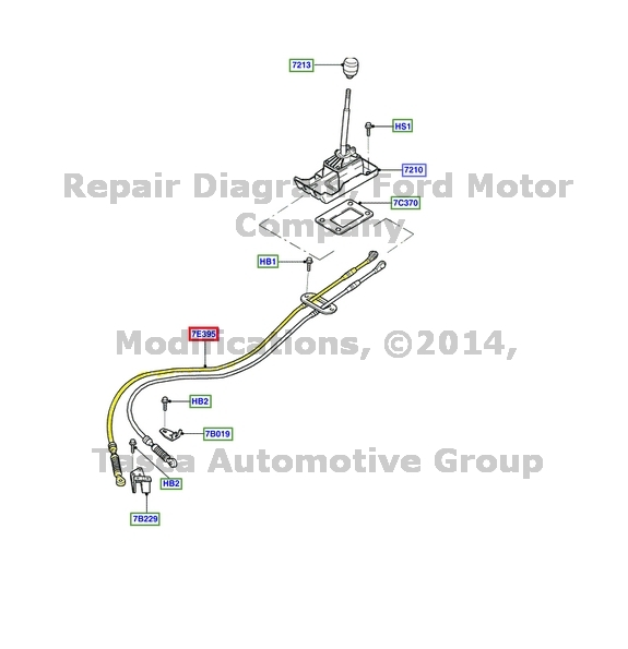 New Oem 5 Speed Manual Transmission Shift Cable 2001