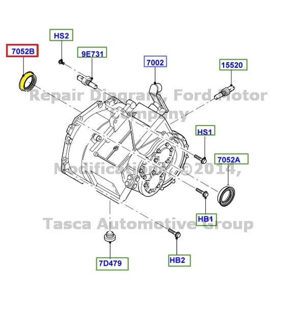 04 Ford Focus SVT 6 Speed M/t Extension Housing Seal RH