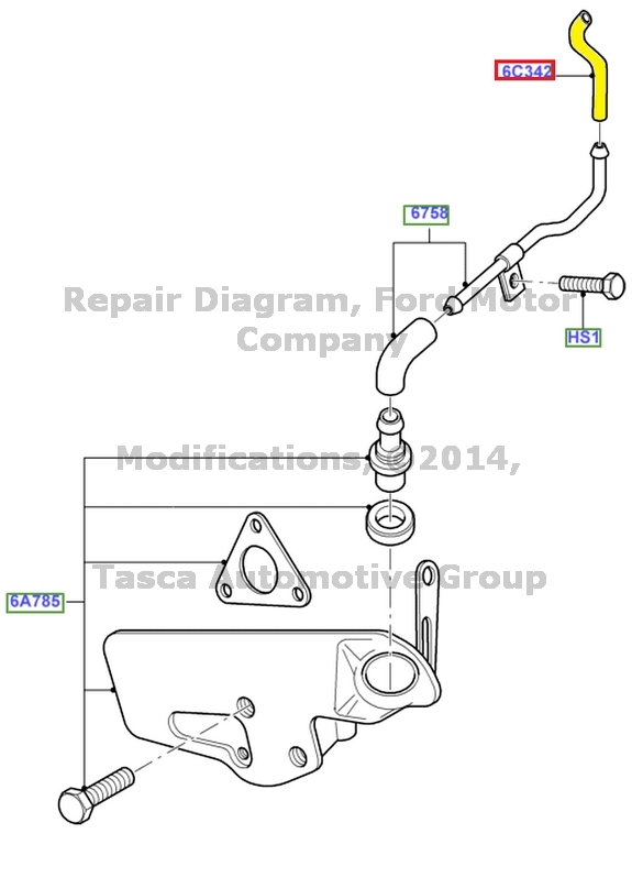 NEW OEM CRANKCASE VENTILATION CONNECTING TUBE HOSE 2002