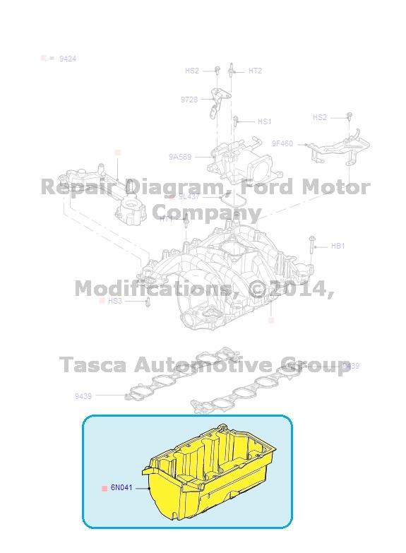 New Oem Engine Intake Manifold Insulator Crown Victoria Town Car. Mercury. 1999 Mercury Grand Marquis Intake Manifold Diagram At Scoala.co