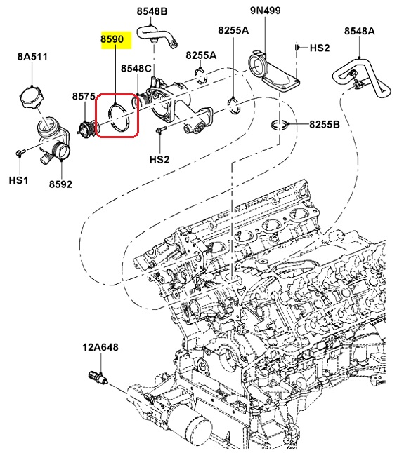 2005 lincoln ls thermostat housing diagram download wiring diagrams new oem thermostat housing seal lincoln ls ford thunderbird 3 9l v8 rh picclick com picture engine for 2000 lincoln ls thermostat location 2003 lincoln ls publicscrutiny