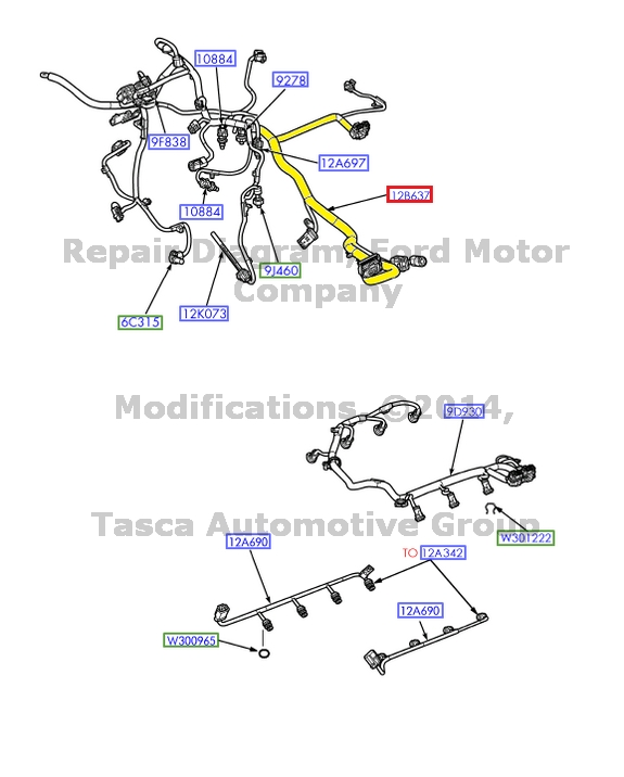 New Oem Engine Wiring Harness 2003 Ford F250 F350 F450