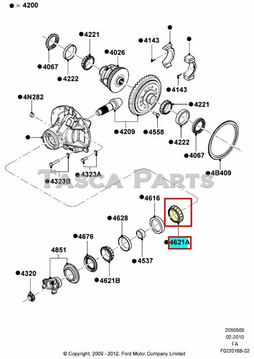 new oem rear differential outer cone  u0026 roller ford f450