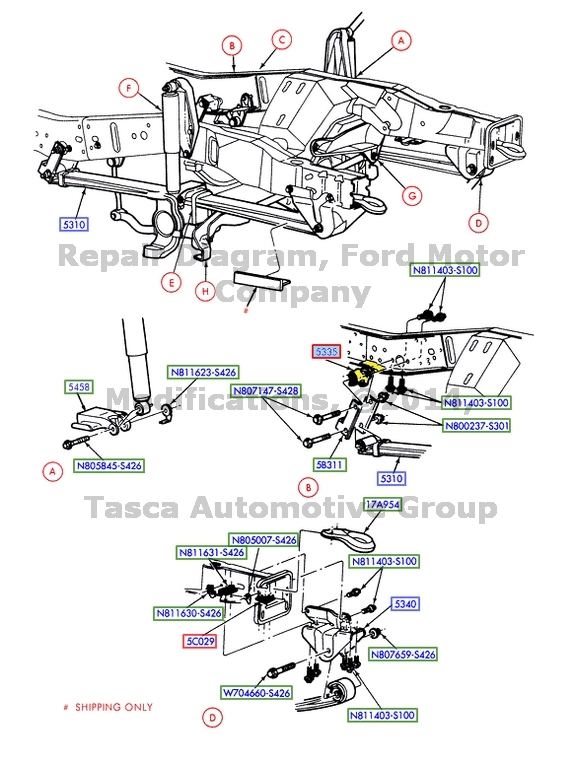 Ford 3c3z5335aa Genuine Oem Factory Original Spring Rear Bracket Ebay. Ford. 2004 Ford Excursion 4x4 Front End Diagram At Scoala.co