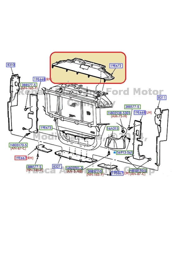 details about brand new oem upper radiator air deflector ford f250 f350 f450 f550 sd excursion Radiator How It Works