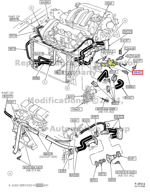 231419942983 on 2002 ford focus egr tube