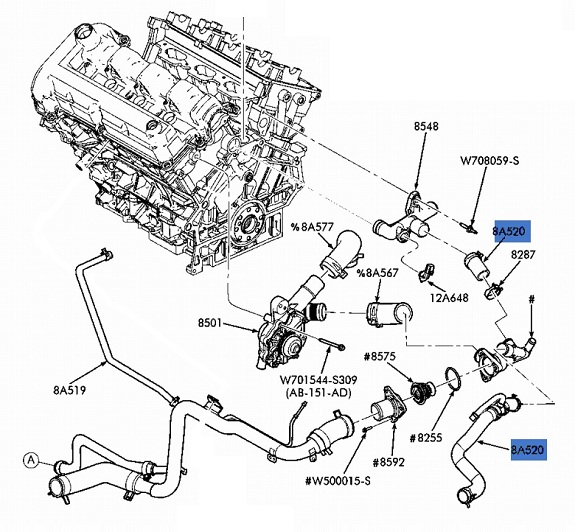 281528352684 on 2001 ford taurus duratec engine