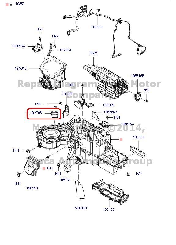 brand new oem blower motor resistor 2011