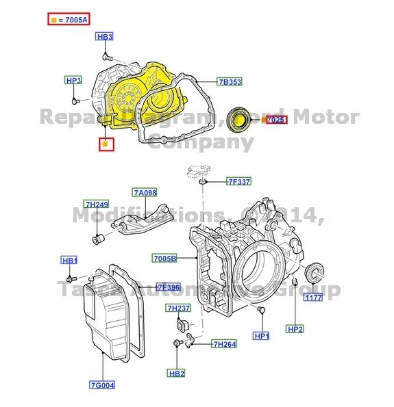 new oem auto transmission case 2001-2008 ford escape 2005-2008 mercury  mariner