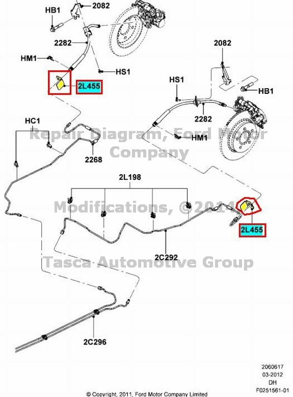 image is loading new-oem-rear-brake-line-bracket-ford-cmax-