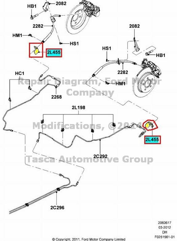 nuevo oem soporte de l u00ednea de freno trasero ford ford focus cmax ford escape  3m5z