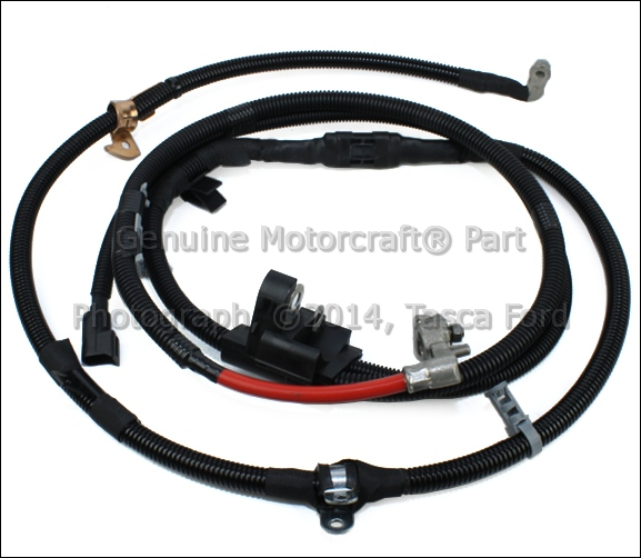 new oem positive battery cable w 160 amp fuse 2003 2004 ford focus 2 3l duratec ebay. Black Bedroom Furniture Sets. Home Design Ideas