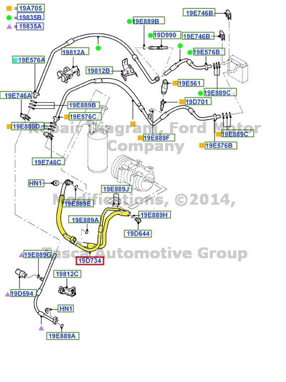 BRAND-NEW-OEM-AIR-CONDITIONER-MANIFOLD-amp-TUBE-ASSEMBLY-2003-2004-FORD-FOCUS-2-0L