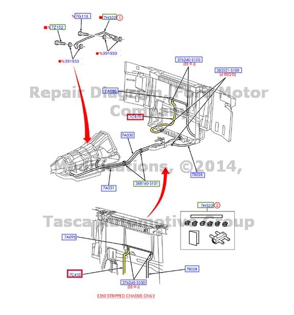 Nuevo tubo de enfriamiento líquido de transmisión OEM 4R70W