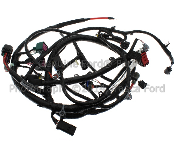 ford f 250 transmission wire harness 2000 ford f 750 engine wire harness new oem engine wiring harness 2004 ford f series sd excursion #4c3z-12b637-aa | ebay