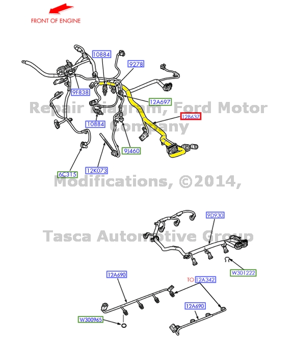 8?refresh new oem engine control sensor wire harness f250 f350 f450 f550 2017 Ford F550 at bakdesigns.co