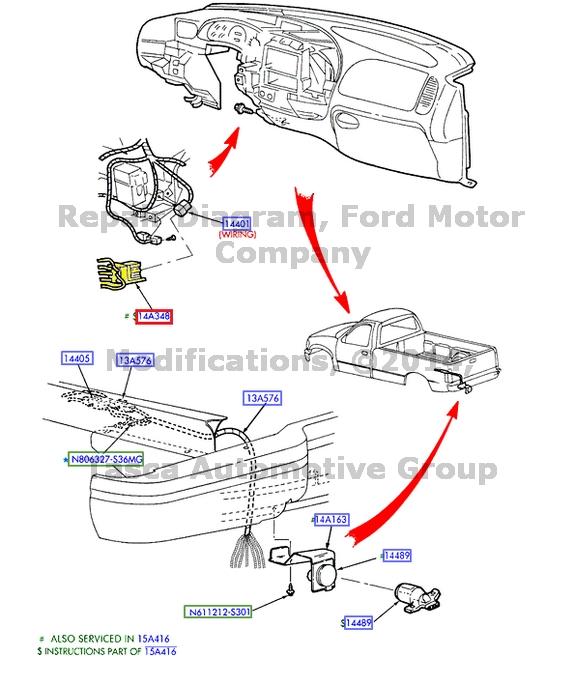 Oem Dash Trailer Brake Controller Wiring Harness 2004 Ford F250 F350 F450 F550
