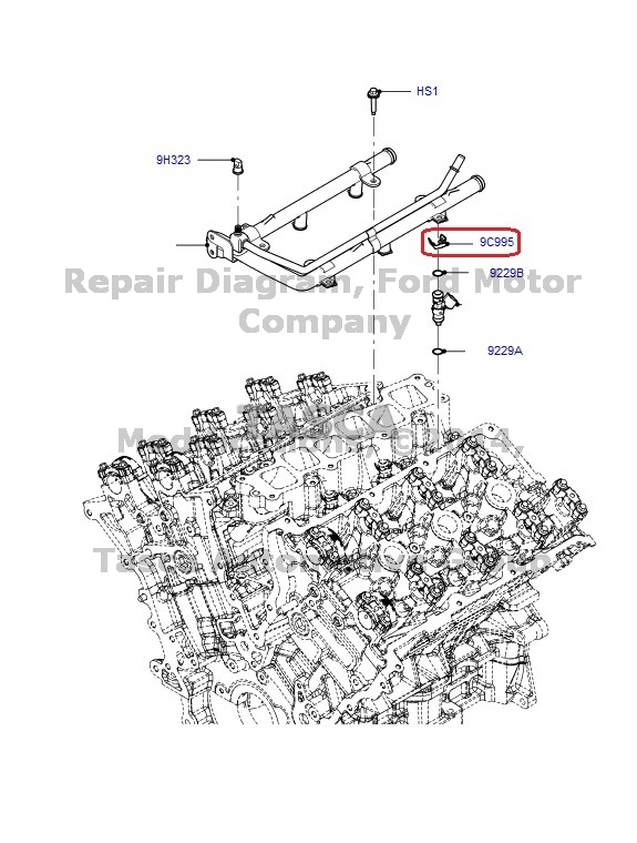 brand new oem fuel injector retainer clip ford lincoln mercury 4f2z rh ebay com Ford Fuel Injector Problems Ford Fuel Injector Problems