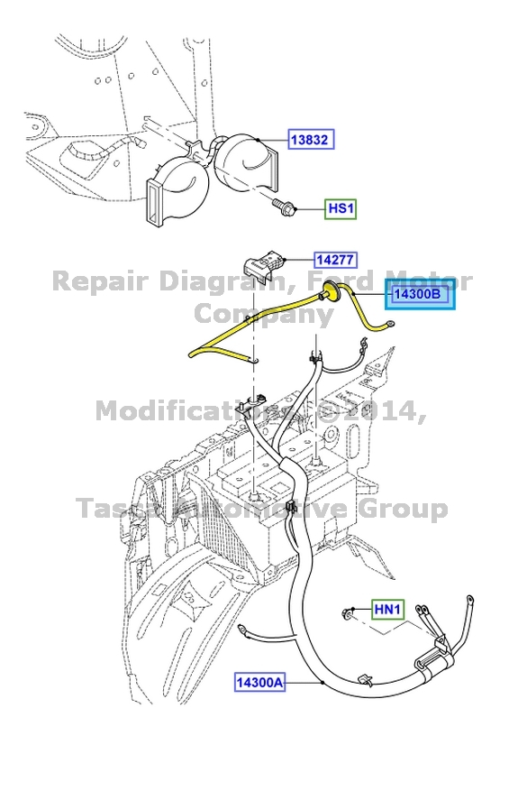 NEW OEM POSITIVE BATTERY CABLE ASSEMBLY LINCOLN NAVIGATOR