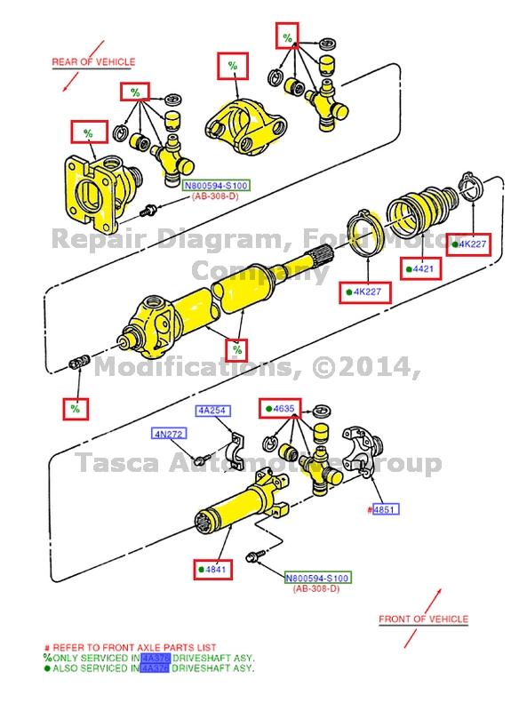 0 new oem front axle drive shaft 2005 10 f250 350 450 f550 super duty