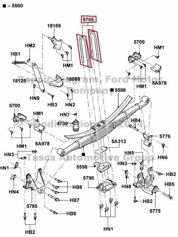 NEW OEM RH OR LH REAR LEAF SPRING U BOLT FORD F450 F550 SD