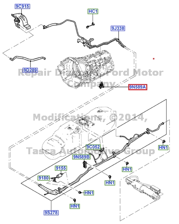 new oem fuel line clip 5 4 v8 6 8 v10 2005