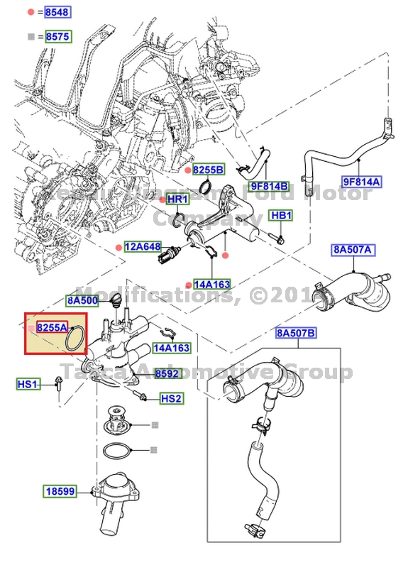 Oem Thermostat Housing Gasket Freestyle 500 Montego 30l V6 Taurus Rhebay: Ford Freestyle 2005 Thermostat Location At Gmaili.net