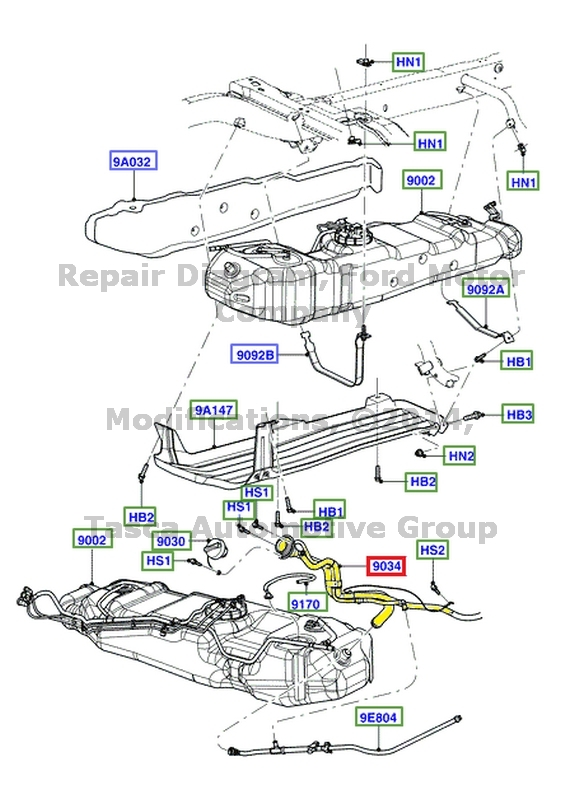 NEW OEM FUEL TANK FILLER PIPE 4 0L V6 12V 2004 2005 FORD