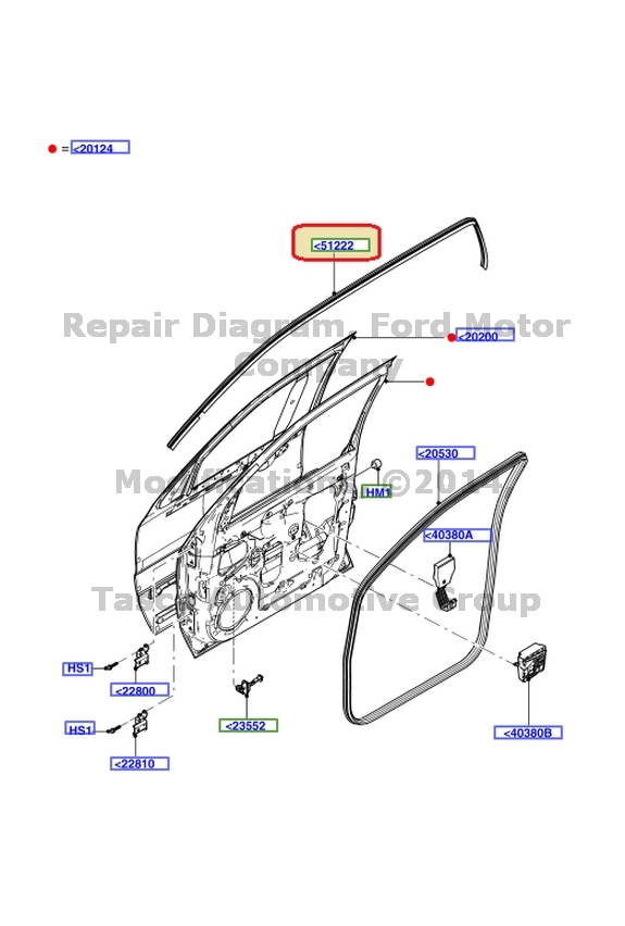BRAND NEW OEM RH OR LH FRONT DOOR WEATHERSTRIP FORD ESCAPE