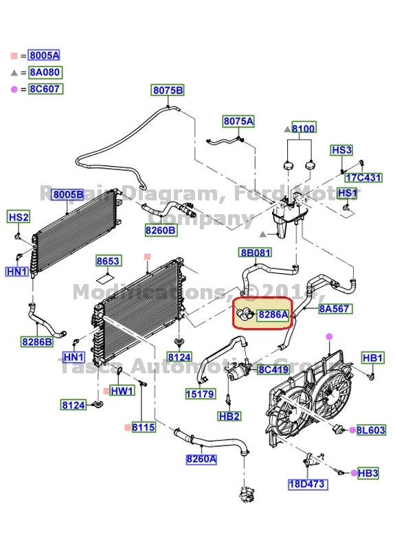 New Oem Lower Radiator Coolant Hose Ford Escape Mercury Mariner Rhebay: Location 2005 Ford Escape Heater Hose Routing At Gmaili.net