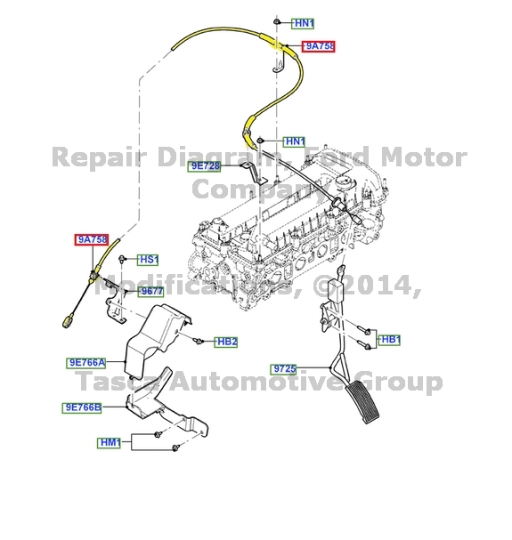 NEW OEM THROTTLE CONTROL CABLE 2005-2006 FORD ESCAPE