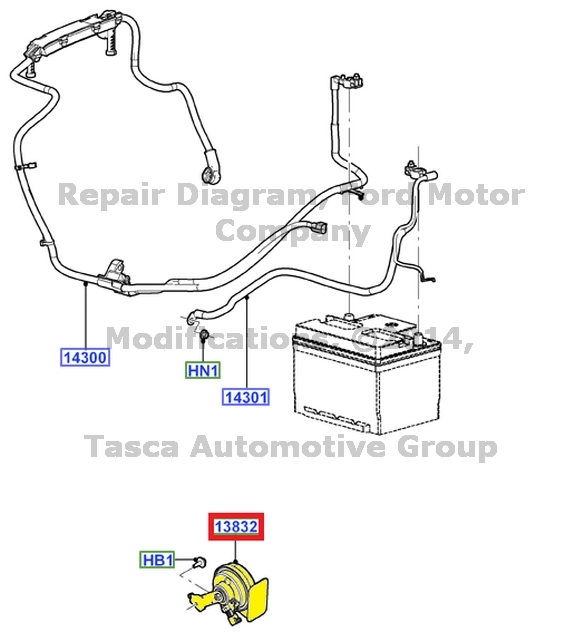 BRAND NEW OEM LOW PITCH HORN ASSEMBLY 2005-2007 FORD FOCUS
