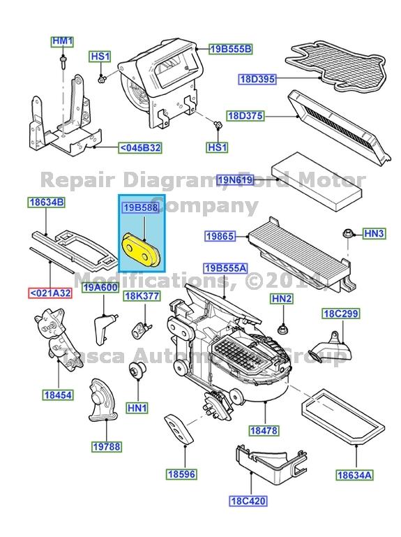 Oem Calentador A C Evaporador Junta 2006 2007 Ford Focus