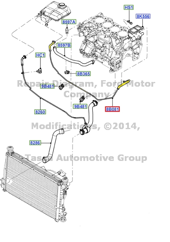 2008 ford focus heater hose diagram