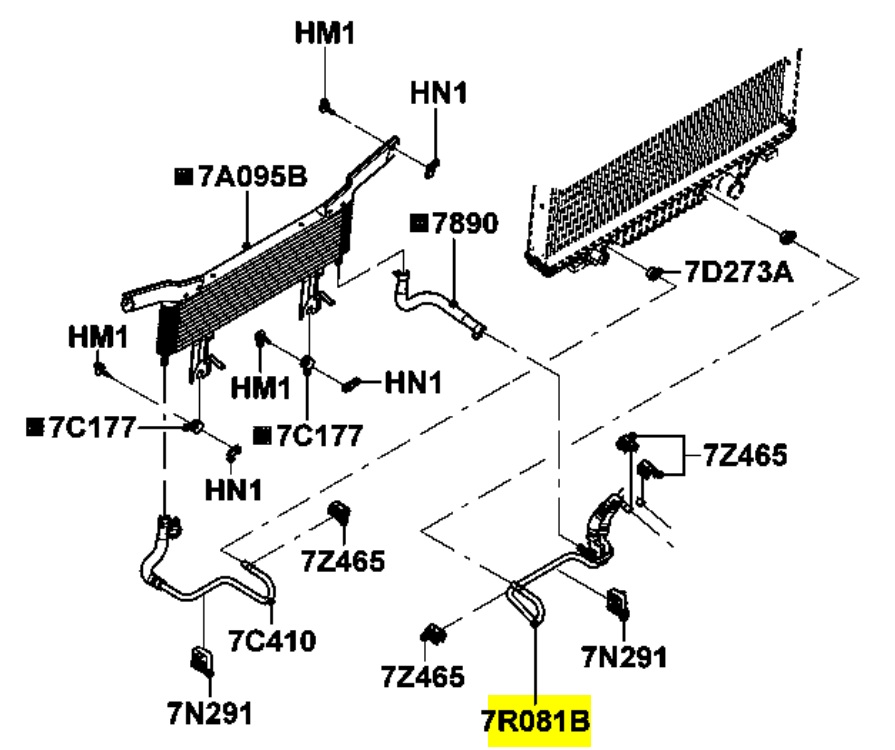 ford f 350 transmission cooler lines diagram