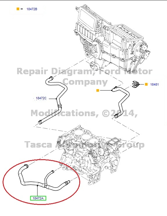 BRAND NEW OEM WATER HEATER HOSE FOR 2006-09 FUSION MILAN