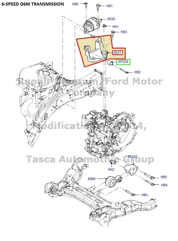 NEW OEM TRANSMISSION MOUNTING BRACKET FOR 2006-12 FUSION