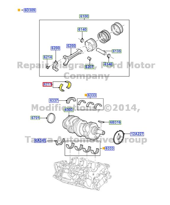 new oem 3 0l v6 24v dohc efi duratec engine crankshaft